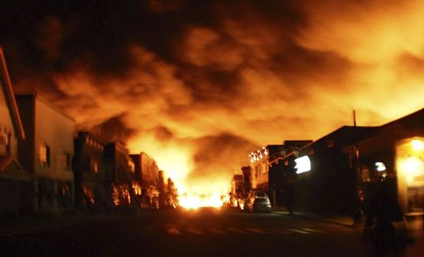 Image: train explosion in Lac-Megantic