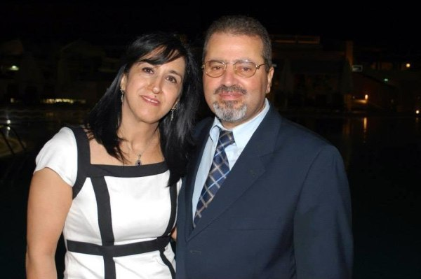 Image: Palestinian Ambassador to the Czech Republic Jamal al-Jamal and his wife