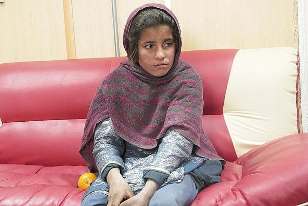 Image: Spozhmai, a 10-year-old girl who was allegedly about to be used by the Taliban as a suicide bomber