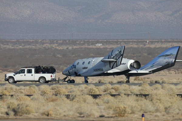Image: SpaceShipTwo after the test flight