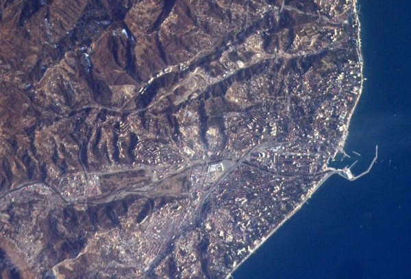 Image: Sochi seen from space