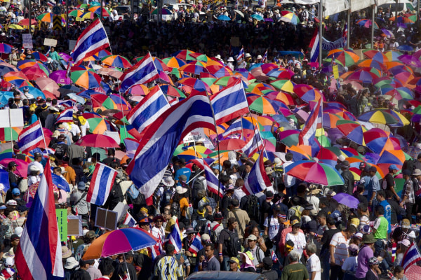 Image: Anti-government protests in Bangkok on Monday