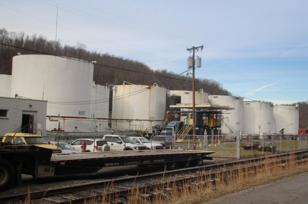 Image: The Freedom Industries chemical plant is shown after a leak at the facility sent chemicals into the Elk River near Charleston.