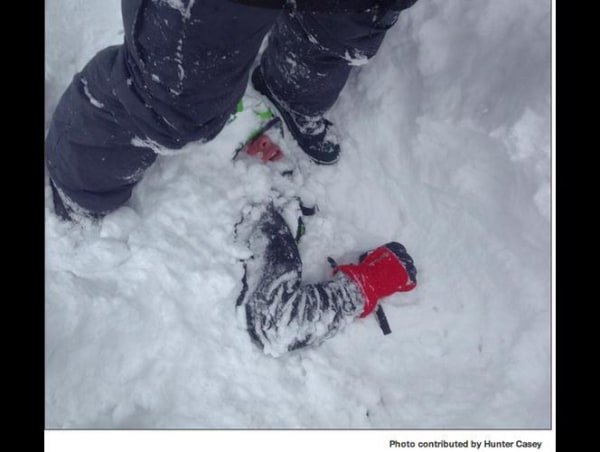 Weston Casey, snowmobiler rescued from an avalanche in Providence Canyon, Utah