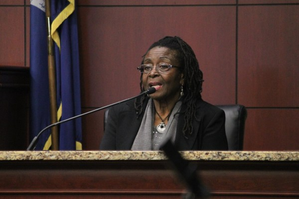 Image: Kathrine Stinney Robinson, 79, sister of George Stinney, testifies during the hearing Tuesday, Jan. 21, 2014, at the Sumter County Judicial Center in Sumter, S.C.