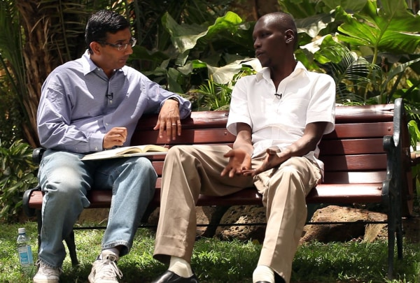 Image: Dinesh D'Souza interviews George Obama