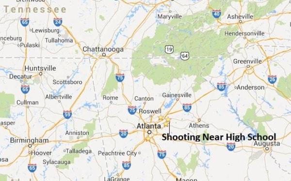 IMAGE: Map of Lawrenceville, Ga., shooting scene