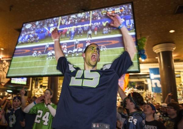 Fans Celebrate Seattle Seahawks' Super Bowl Victory