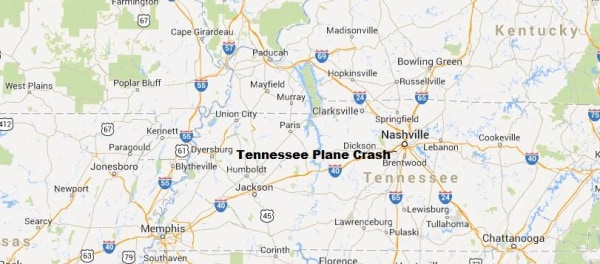 IMAGE: Map of Tennessee crash site