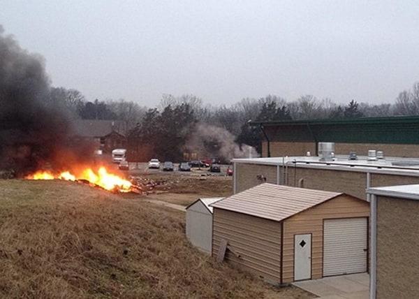 Scene of plane crash.