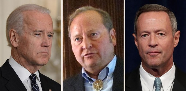 Image: Biden, Schweitzer, O'Malley