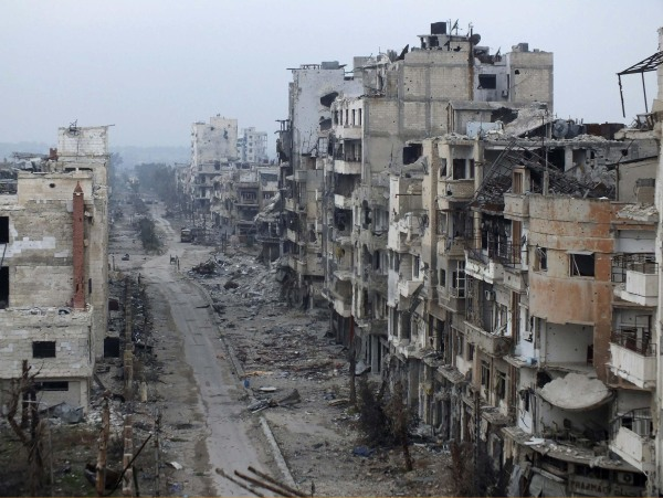 Image: Destruction in Homs, Syria
