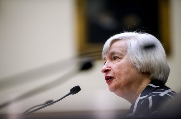 Stock markets like what they hear when Janet Yellen assures Congress of continuity in the Fed's monetary policy.