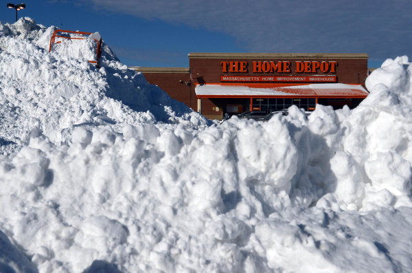 Once the snow clears... Home Depot is hiring 80,000 staff for springtime.