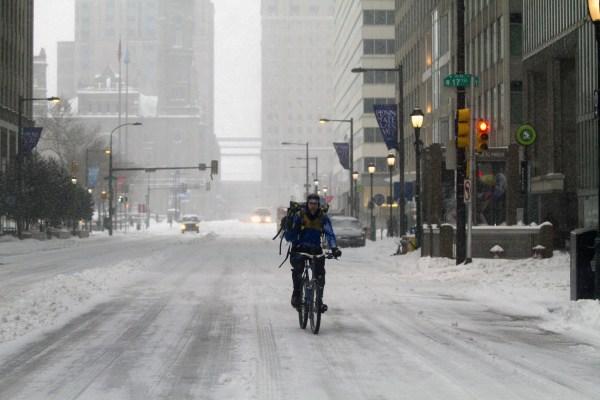 Image: Winter Storm Brings Snow And Sleet To Philadelphia