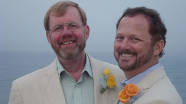 Image: Paul Hard, right, with his husband David Francher at their wedding in Marconi Beach, Mass. on May 20, 2011