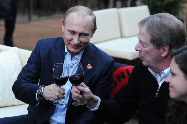 Image: Vladimir Putin visits USA House in Olympic Park