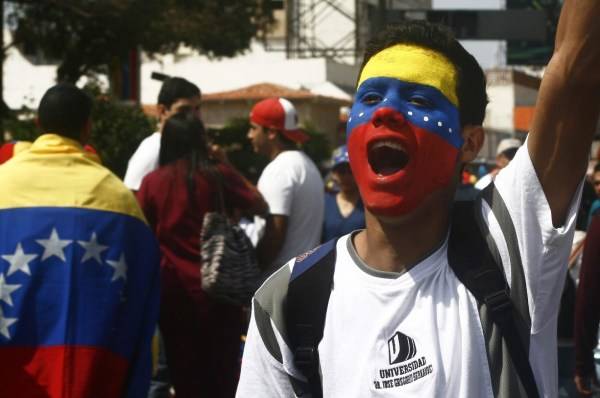 Image: Anti-government protest in Maracaibo, Venezuela, on Monday