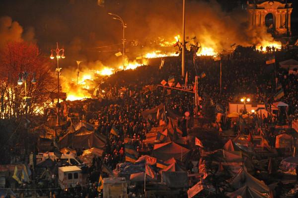 Image: Anti-government protest in Kiev, Ukraine