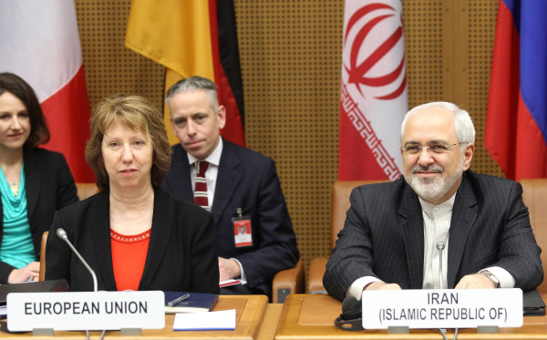 Image: EU foreign policy chief Catherine Ashton and Iranian Foreign Minister Javad Mohammad Zarif