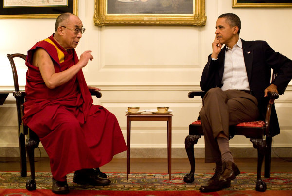 Image: President Barack Obama meets with His Holiness the XIV Dalai Lama