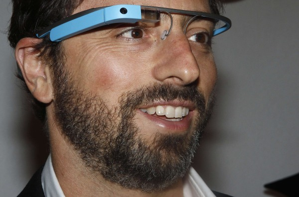 Image: File photo of Google founder Sergey Brin posing for a portrait wearing Google Glass glasses in New York