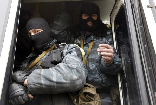 Image: Berkut members in Kiev on Feb. 22
