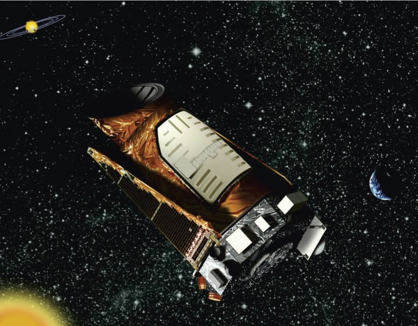 Image: This artist rendition provided by NASA shows the Kepler space telescope.