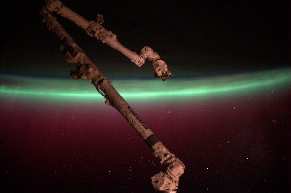 Image: Aurora as seen from space