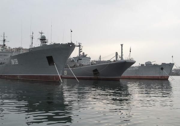 Image: Russian navy ship moored in Sevastopol, Ukraine