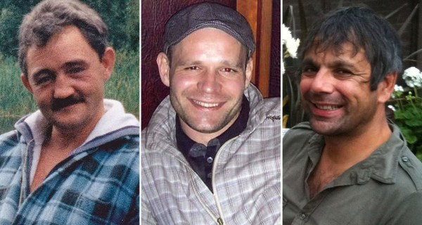 Image: From left: Victims John Chapman, Lukasz Slaboszewski and Kevin Lee.