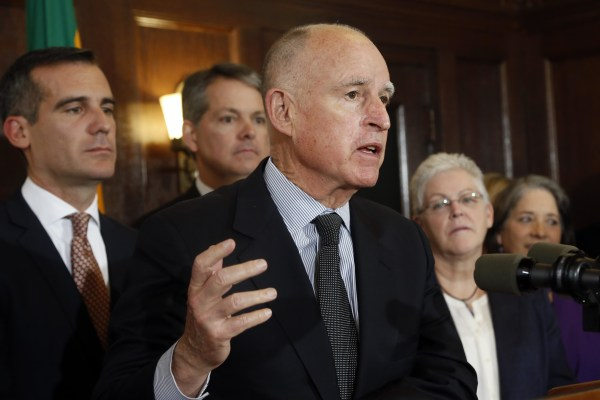 Jerry Brown, Eric Garcetti, George Heartwell, Gina McCarthy