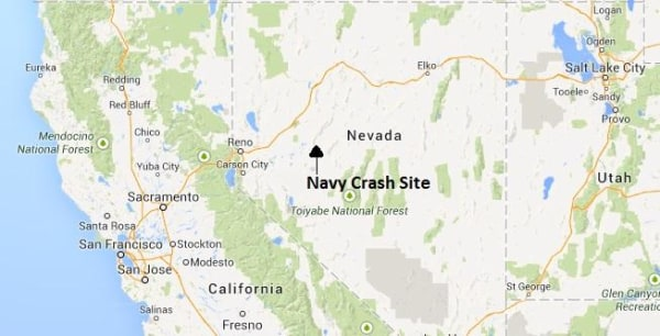 IMAGE:Map of approximate location of Navy jet crash