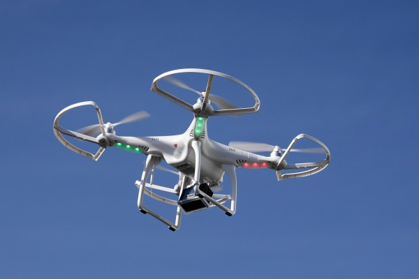 Image: A drone flies at the International Consumer Electronics Show in Las Vegas