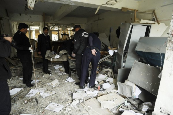 Image: Scene of attack at court complex in Islamabad
