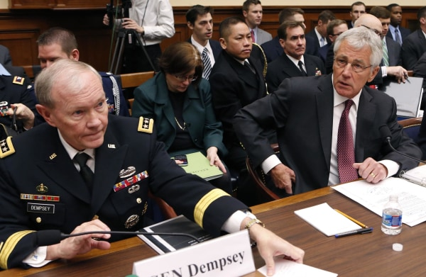 Image: Chairman of the Joint Chiefs of Staff Gen. Martin Dempsey and Secretary of Defense Chuck Hagel