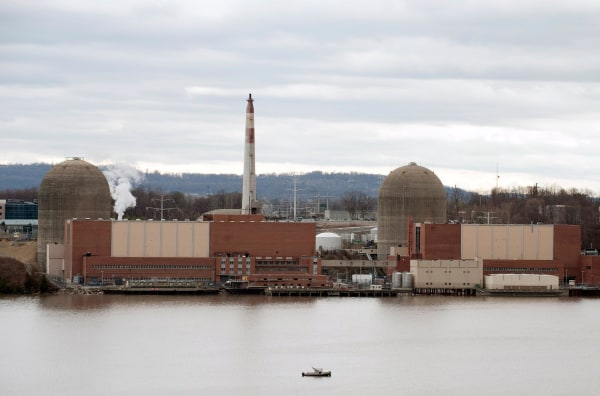Image: A security boat sits in front of Indian Point Nuclear Power Plant