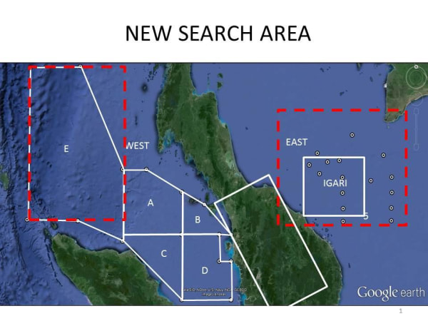 Malaysian search area