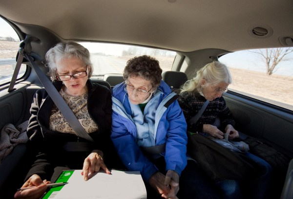 Image: JoAnn Gates, left, Peg Jacobs, center, and Mary Swain of the Loretto Community in Nerinx