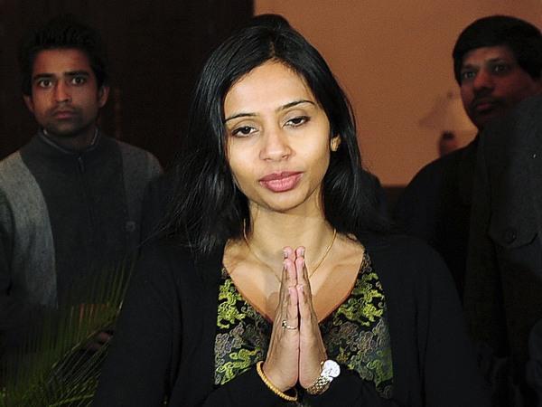 Image: File of Indian diplomat Devyani Khobragade gestures upon her arrival at Maharashtra Sadan state guesthouse in New Delhi