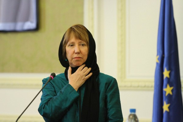 Image: Catherine Ashton in Tehran on March 9