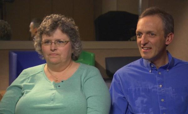 Image: Adoptive parents Shelli and John Giess