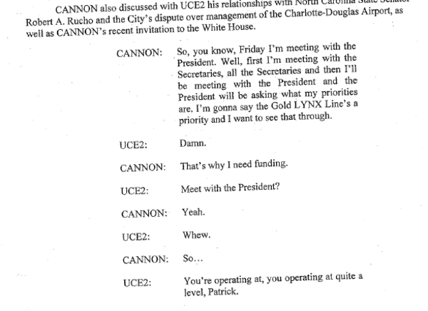 IMAGE: Passage from FBI affidavit