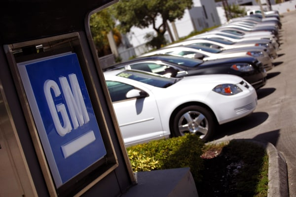 Chevrolet cars are seen at a GM dealership in Miami, Florida.