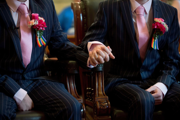 Image: TOPSHOTS-BRITAIN-POLITICS-GAY-MARRIAGE