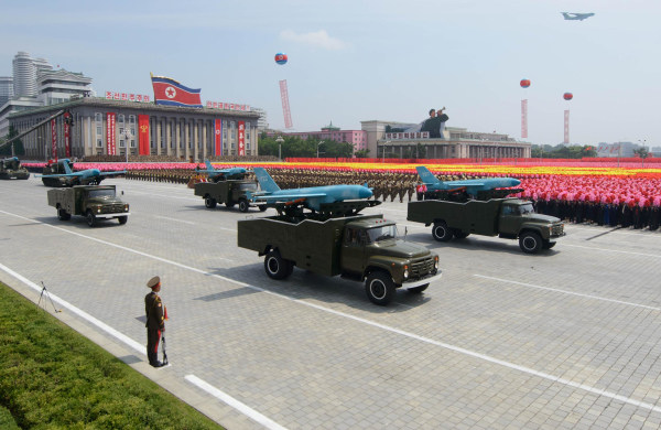 Image: Possible drone aircraft during military parade in Pyongyang in 2013