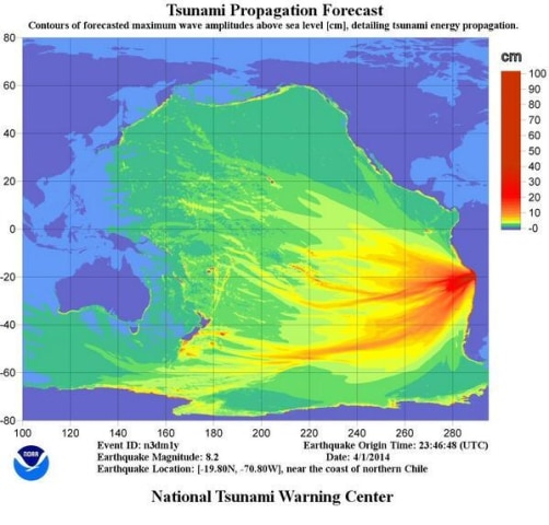IMAGE: National Tsunami Warning Center propagation map
