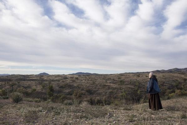 Image: Cardinal Sean O'Malley of Boston walks the Arizona desert similar to where migrants cross the U.S.-Mexico border near Nogales Arizona