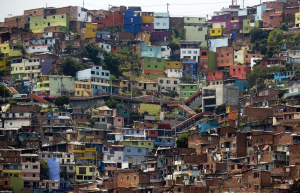 Image: A view of Comuna 13, one of the poorest areas of Medellin, Colombia