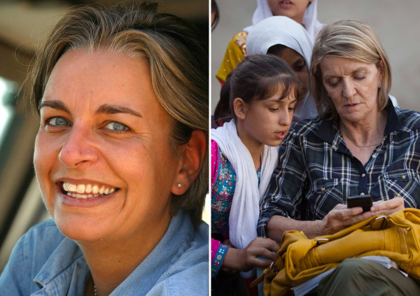 Image: Photographer Anja Niedringhaus, left, was killed and her colleague Kathy Gannon, right, was injured on Friday.